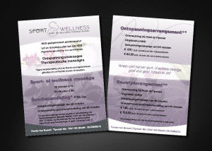 Ontwerp folder WELLNESS TIPMAST
