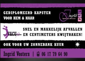 Ontwerp reclamebord Ingrid Vosters