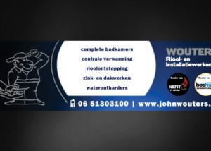 Ontwerp reclamebord Wouters Riool- en Installatiewerken