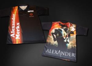 Ontwerp dartshirt Alexander Merkx