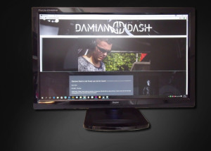 Ontwerp website Damian Dash