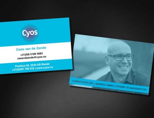 Ontwerp visitekaartjes Cyos