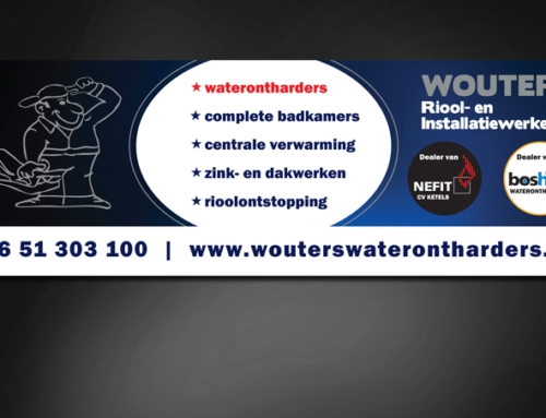 Ontwerp banner Wouters Waterontharders