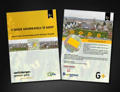 Ontwerp flyer Bouwbedrijf van Gisbergen