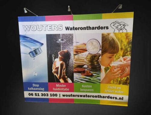 Banner met verlichting voor Wouters Waterontharders