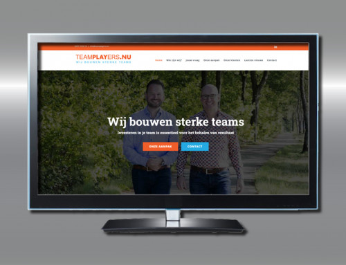 Ontwerp website TeamPLAYers.nu