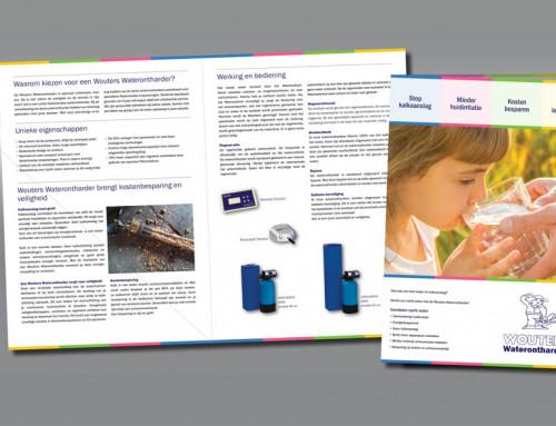 Ontwerp brochure Wouters Waterontharders