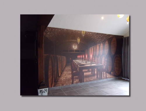 Interieurproject wand voor café