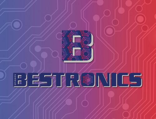 Ontwerp combinatie logo van Bestronics en Spinnov