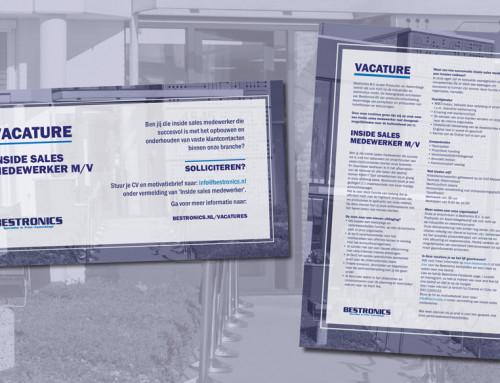 Ontwerp advertentie vacature Bestronics